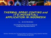 Thermal Spray Coating and Its Application in Indonesia