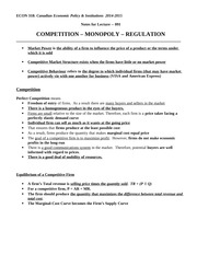 Econ 318_F2014_Chapter_091_Competition-Monopoly-Regulation