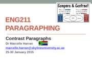 ENG211 Contast Paragraphing 25-30 January 2015