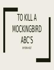 To kill a mockingbird ABC's.pptx