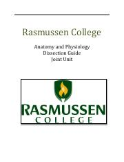 Rasmussen College Dissection Guide  - Joint Unit