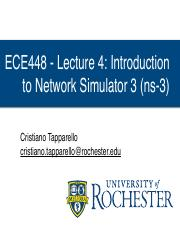 4 - Introduction to ns-3 - ECE448 Lecture 4 Introduction to
