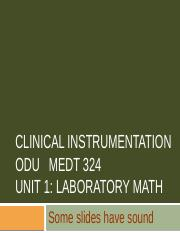 Medt 324 Unit 1 Lab Math