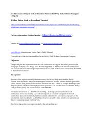 WEB375 Course Project  Web Architecture Plan for the DeVry Daily Tribune Newspaper Company.docx