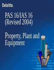Property, Plant and Equipment - Lecture