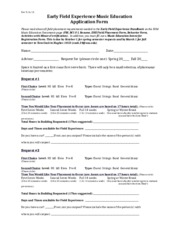 Early Field Experience Music Education Application Form 9_15.docx