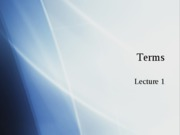 TERMS Lecture