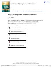 Why is management research irrelevant.pdf