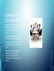 Learning Team Collaboration introduction