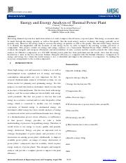 521538c9b9d3aa411dfbea0f8526572c.Energy and Exergy Analysis of Thermal Power Pla