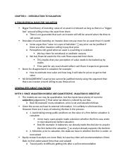 FINA 410 - MIDTERM NOTES