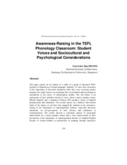AwarenessRaising-in-the-TEFL-Phonology-ClassroomStudent-Voices-and-Sociocultural-and-Psychological-C