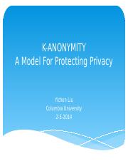 K-anonymity protection model.pptx