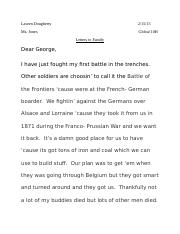 Global-Letters Project WWI