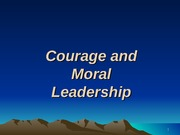 XIII - Ldr Courage and Moral