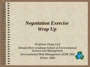 Negotiation excercise wrap up
