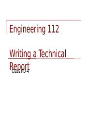 ENGR 112 Technical report format