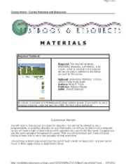Course Materials and Resources