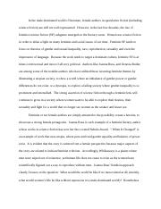 Backup of Into to Scifi - Edited Final Essay - Feminist theory in scifi.docx