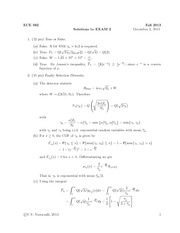 FAll 2013 Exam 2 Solution