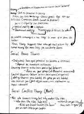 Criminology Notes on Anomy and Social Conflict Theory