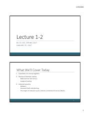 Lecture 1-2