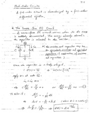 1st Order Circuits Notes