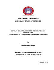 pavement thesis - ADDIS ABABA UNIVERSITY SCHOOL OF GRADUATE