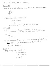 Homework 1 Questions and Solutions