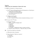 Outline Lecture One ec mmw6