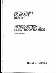 Solutions Manual of Introduction to Electrodynamics by David J. Griffiths