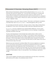Discussion 5 Overview - Amazing Grace