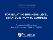 Lecture 3 - business strategy - student copy