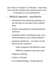 PSYC - Key Terms for Ch 12