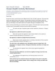 Ocean Health Worksheet.rtf