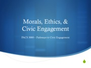 (9) Morals and Ethics