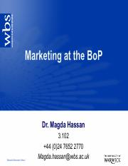 Session 7 - Marketing at the BoP -handouts