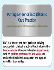 Solution-evidence based diabetes-PowerPoint presentation.pptx