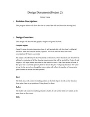 Design Documents(Project2)