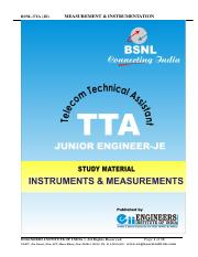 BSNL-TTA-JE-Measurement