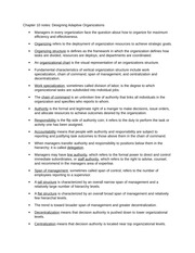 Chapter 10 Exam Material- Designing Adaptive Organizations
