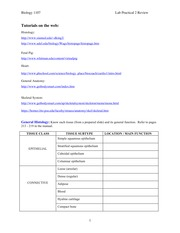 1107 Lab Practical Study Guide