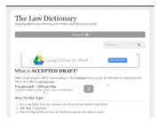 What is ACCEPTED DRAFT_ definition of ACCEPTED DRAFT (Black's Law Dictionary)