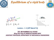 Equilibrium of a rigid body  (Lectures 1-9)