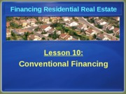 Chapter 10 Conventional Financing