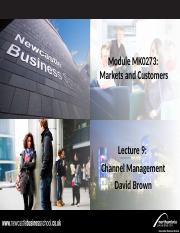MK0273.Channel Management Lecture