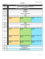 Conference Agenda Template 2 Dotx Event Name Dates Agenda Start