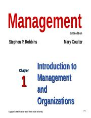 Management 10th Edition Robbins Coulter Pdf