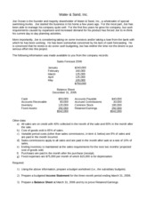 Water & Sand, Inc. Problem document Fall 2012