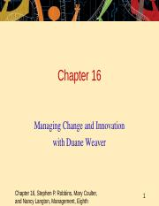mgmt192-Chp16-Change Management.ppt